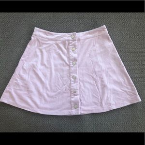 Pale Pink Button-up Skirt